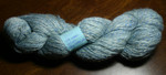 Handspun mohair blue (1 skein) - 100% mohair, 130g/387 yds, 18 WPI, fingering to sport weight