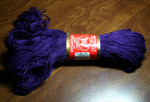 Super 10 Indigo (1 skein plus a partly used ball) - 100% mercerized cotton, 125g/250m, 22 sts=10cm, 4mm needle/hook